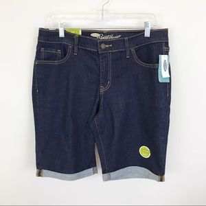 NWT Old Navy sweetheart Bermuda Jean shorts 12